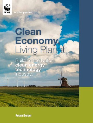 Dutch clean technology nov 09 - Wereld Natuur Fonds