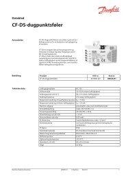 CF-DS-dugpunktsføler - Danfoss Varme
