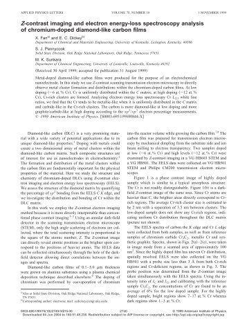 Z-Contrast Imaging and Electron Energy-Loss Spectroscopy ...