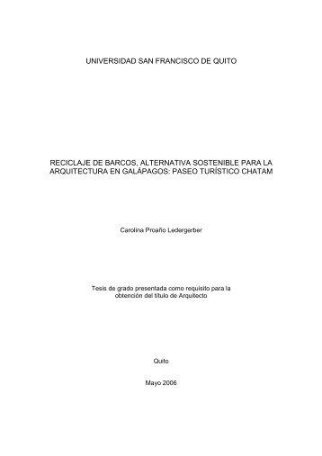 Caratula y aprobación - Repositorio Digital USFQ - Universidad San ...
