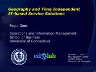 Geography and Time Independent IT-based Service Solutions
