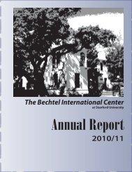 2010/11 - Bechtel International Center - Stanford University