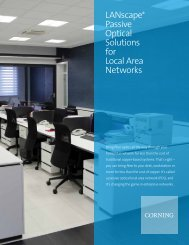 LANscape® Passive Optical Solutions for Local Area Networks