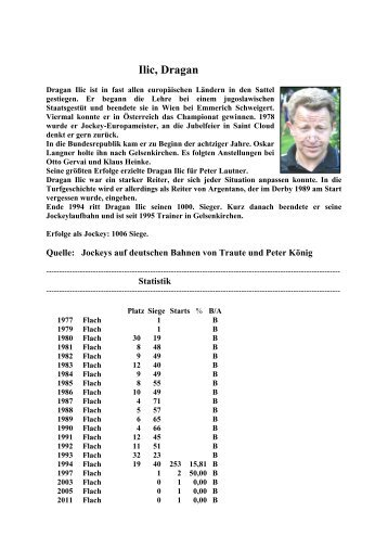 Ilic, Dragan (TK) - Jockeys-in-deutschland.de