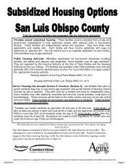 Subsidized Housing List SLO - Central Coast Commission for Senior ...