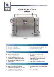 OZONE WATER SYSTEM PAP5000 - Anseros