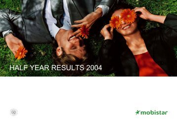 Analyst Presentation - Results 1H04 - 27 07 2004 - Mobistar