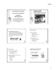 Final Powerpoint Orientation Slides - College of Pharmacy ...