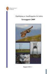 Status hubro i Nordland 2009
