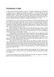 Introduksjon av faget - Bibelskolen