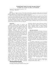 Detailed Kinetic Model of Gasoline Surrogate Mixtures - Combustion ...