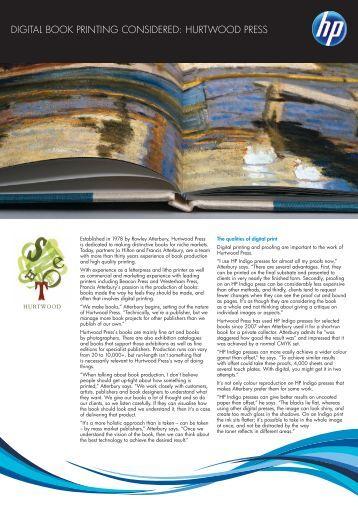 Digital book printing considered: Hurtwood Press - HP