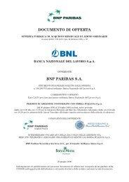 DOCUMENTO DI OFFERTA BNP PARIBAS S.A.