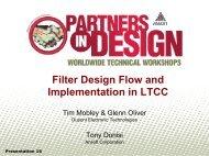 Filter Design Flow and Implementation in LTCC