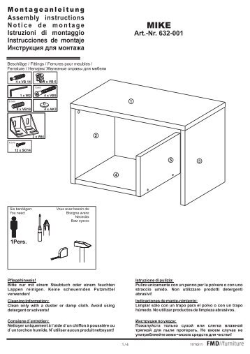 Montageanleitung Assembly instructions Notice de montage ...