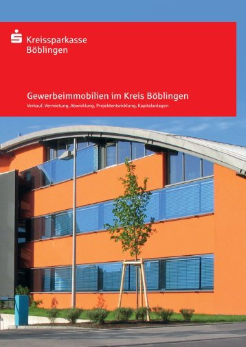 Gewerbeimmobilien im Kreis Böblingen - Kreissparkasse Böblingen