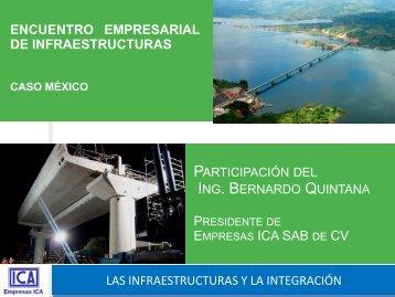 Bernardo Quintana, Presidente ICA, México - Segib