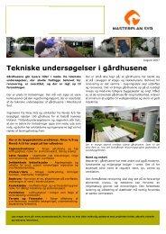 Tekniske undersøgelser i gårdhusene ... - Masterplan Syd