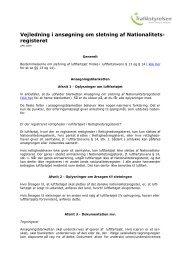 Vejledning i ansøgning om sletning af Nationalitets ... - Trafikstyrelsen