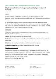 Dokumentation af transportforhold - Danske Prydplanter