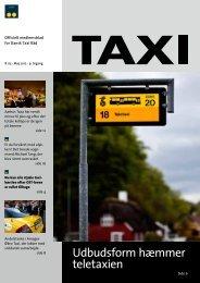 Udbudsform hæmmer teletaxien - Dansk Taxi Råd