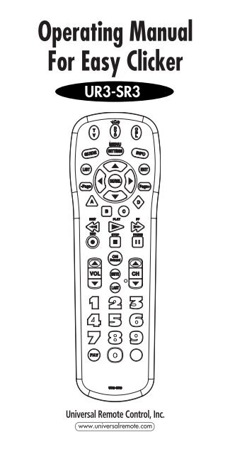 Operating Manual For Easy Clicker Bright House Networks