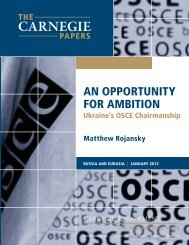 An Opportunity for Ambition: Ukraine's OSCE Chairmanship