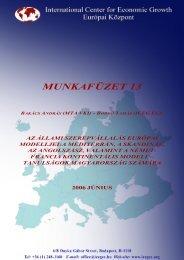 Az állami szerepvállalás európai modelljei