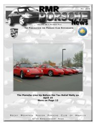 The Porsche Line Up Before the Tax Relief Rally on April 15 More ...