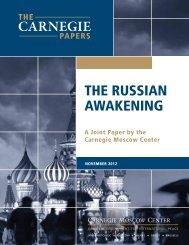 The Russian Awakening - Carnegie Endowment for International ...