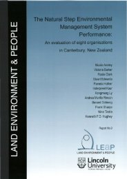 an evaluation of eight organisations in Canterbury, New Zealand