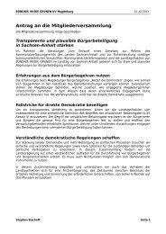 Antrag zur Mitgliederversammlung: Transparte Demokratie