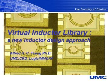Presentation - Virtual Inductor Library: a new inductor design approach