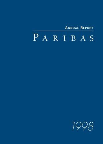 1998-Paribas Annual Report - BNP Paribas