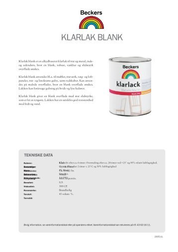 KLARLAK BLANK - Resolut MRM