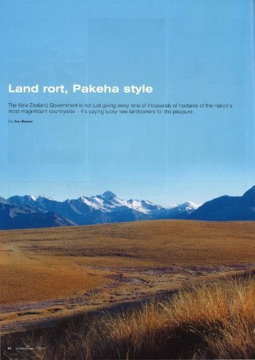 Land rort, Pakeha style - Lincoln University Research Archive