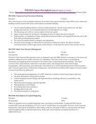 FINANCE Course Descriptions 2012-13 - Kelley School of Business
