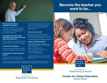 Become the teacher you want to be... - Denver Public Schools