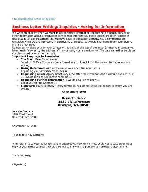 Letter Asking For Reference from img.yumpu.com