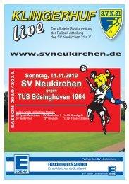 Stadionheft Nr.04 - SV Neukirchen - SV Neukirchen 21 e.V.