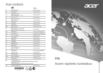 Acer contacts