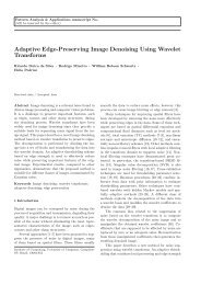 Adaptive Edge-Preserving Image Denoising Using Wavelet ... - UFMG