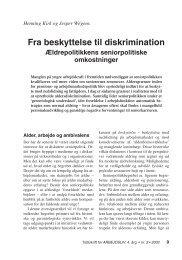 Fra beskyttelse til diskrimination - Nyt om Arbejdsliv
