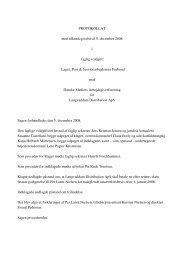 PROTOKOLLAT med tilkendegivelse af 5. december 2008 i faglig ...