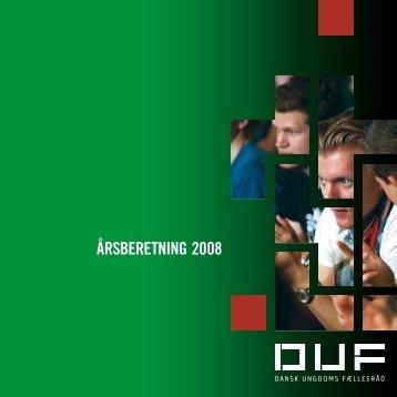 årsberetning 2008 - Dansk Ungdoms Fællesråd