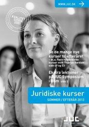 Juridiske kurser og advokatkurser sommer/efterår 2013 - JUC