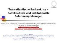 Transatlantische Bankenkrise - EIIW