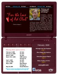 """""""For the Love of Ad Club"""" - Great Falls Advertising Federation"""