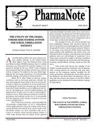 April 2012 - College of Pharmacy - University of Florida