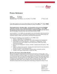 Leica Geosystems announces the release of Leica CloudWorx™ 1.0 ...